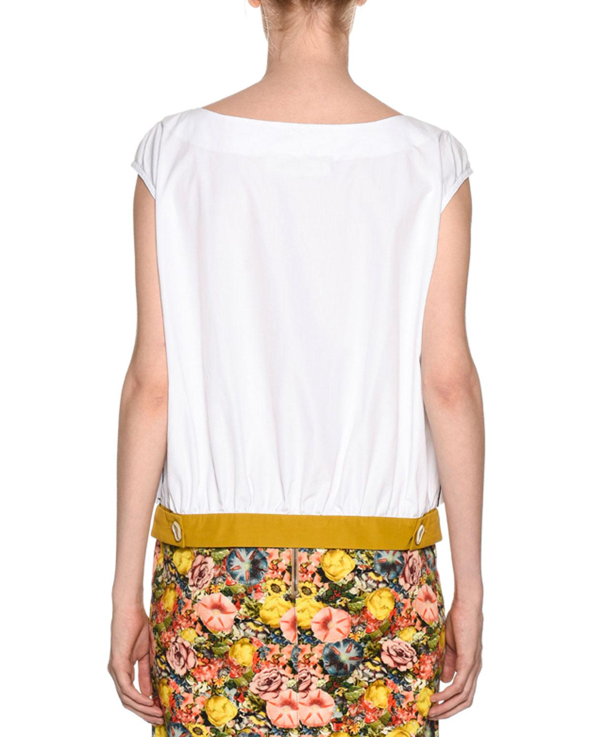 8f029fdf2d534c Lyst - Marni Sunflower Tank Top in White - Save 14%