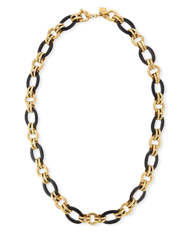 Ashley Pittman Hammered Bronze Chain Necklace, 36L