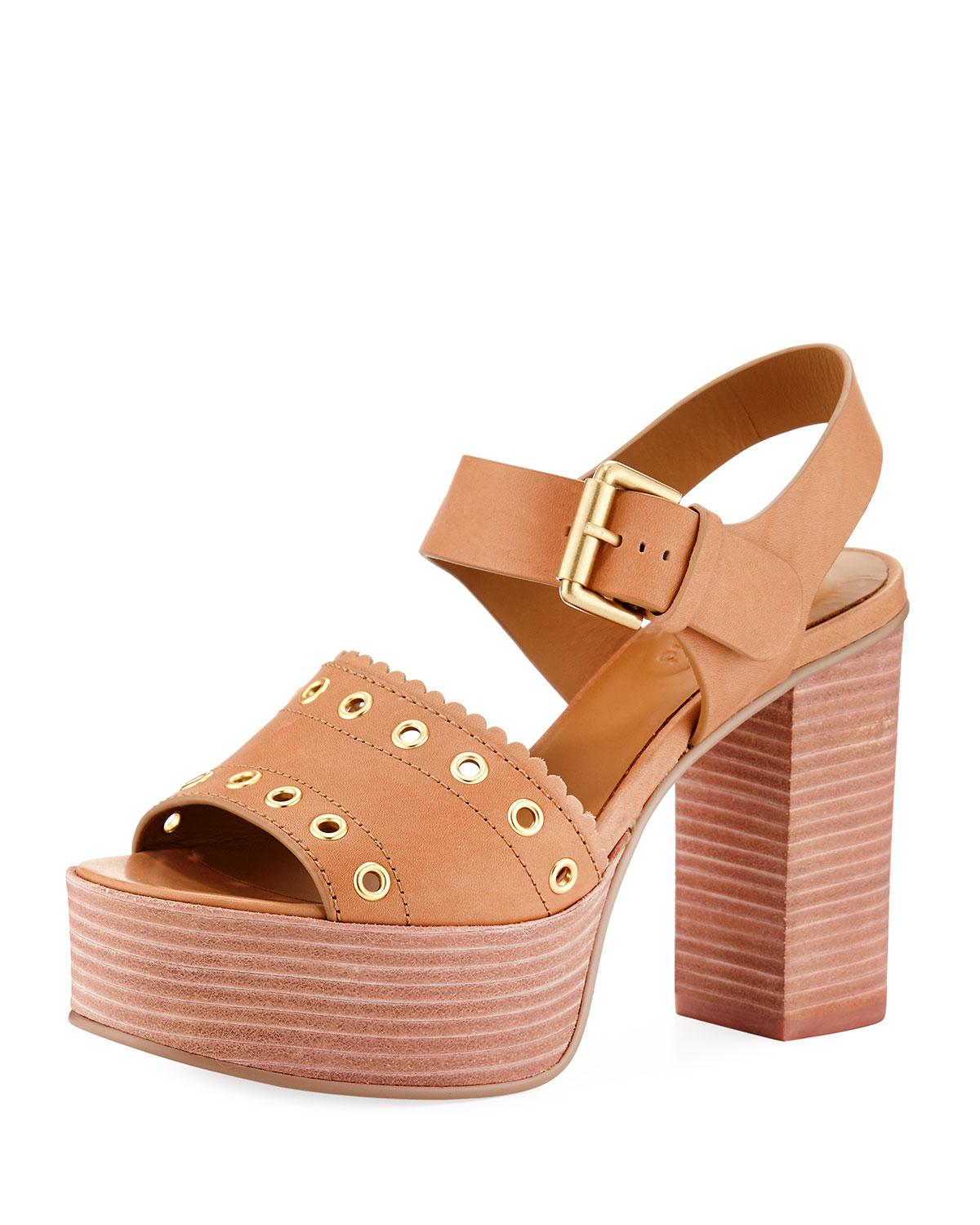 7db5e57420e31a Lyst - See By Chloé Nora Leather Platform Sandals in Brown