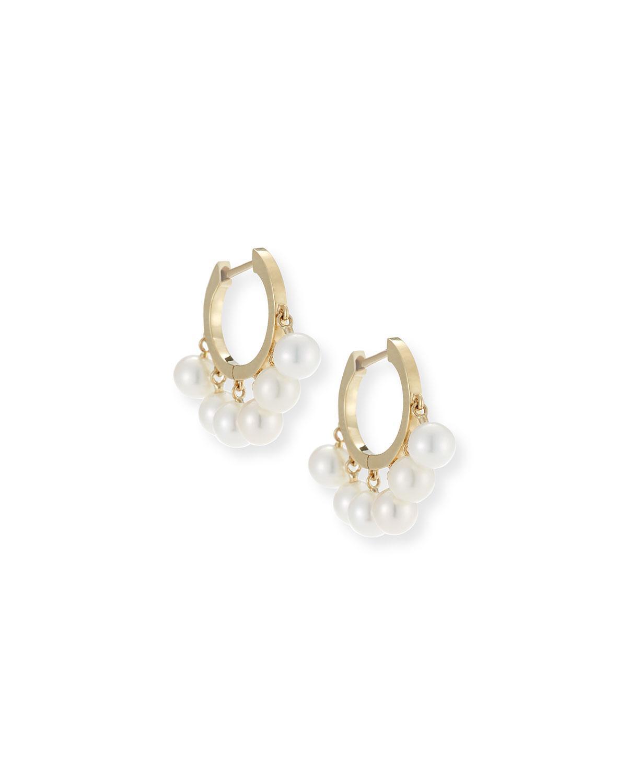 E.M. pearl hoop earring - Metallic HwJNO
