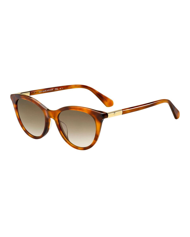9f8b811bc3 Lyst - Kate Spade Janalynn Cat-eye Sunglasses in Brown