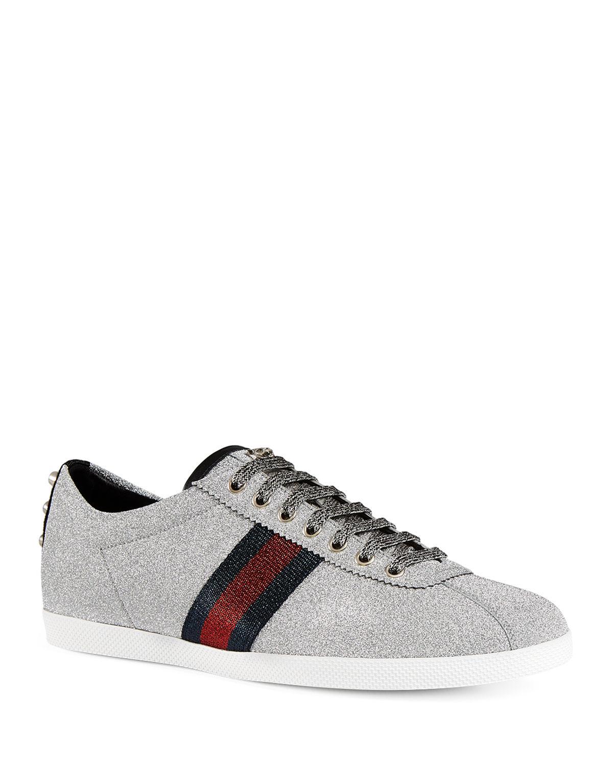 670d5759f08 Lyst - Gucci Men s Bambi Web Low-top Sneakers With Stud Detail for Men