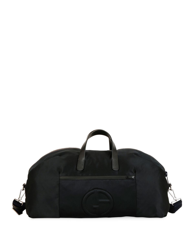 Lyst - Giorgio Armani Men s Nylon Carryall Duffel Bag in Black for Men e6ce067d2e
