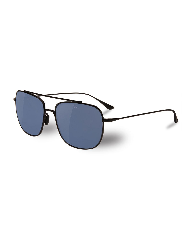 14fe292c82a Vuarnet - Black Swing Titanium Rectangular Aviator Sunglasses for Men - Lyst.  View fullscreen