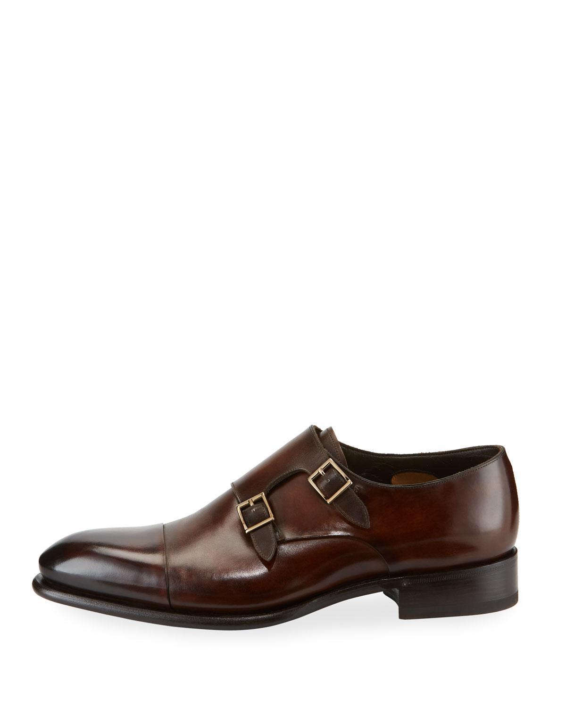 9dc172d8d62f8d Santoni - Brown Carter Double-monk Shoe for Men - Lyst. View fullscreen
