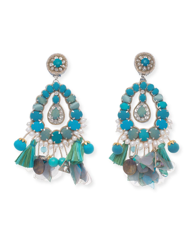 Ranjana Khan Noemie Beaded Statement Clip-On Earrings 6Lwxc