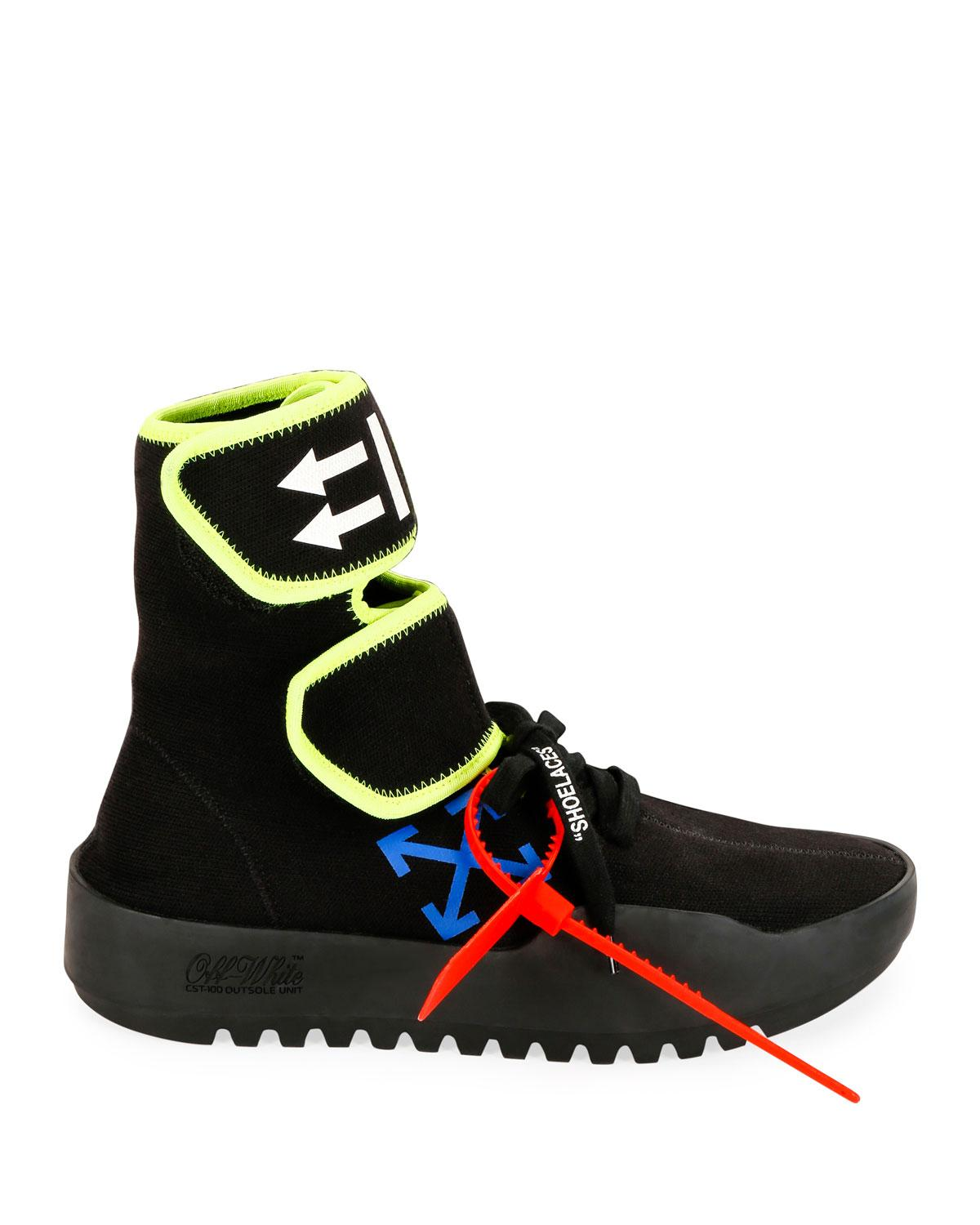 b9b51ea20e93 Lyst - Off-White c o Virgil Abloh Moto Wrap High-top Sneakers in Black