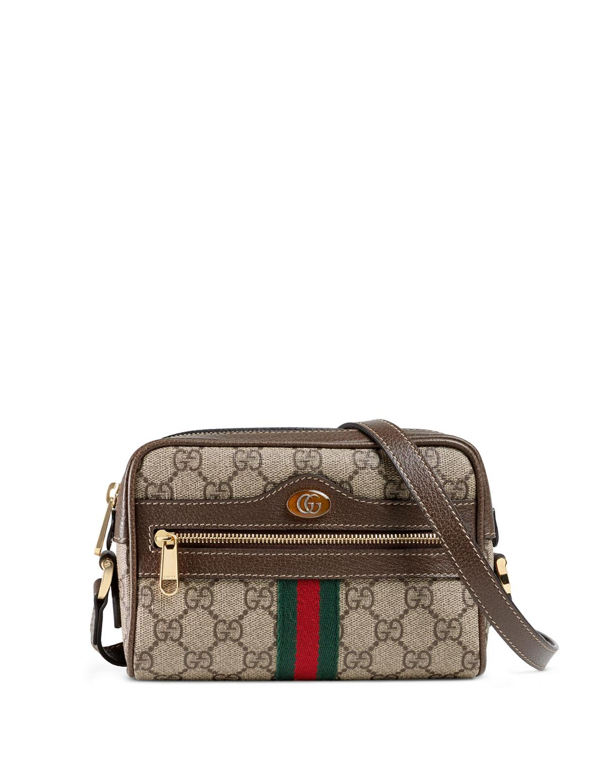39ded4712a7189 Gucci Ophidia Gg Supreme Mini Bag in Natural - Save 24% - Lyst