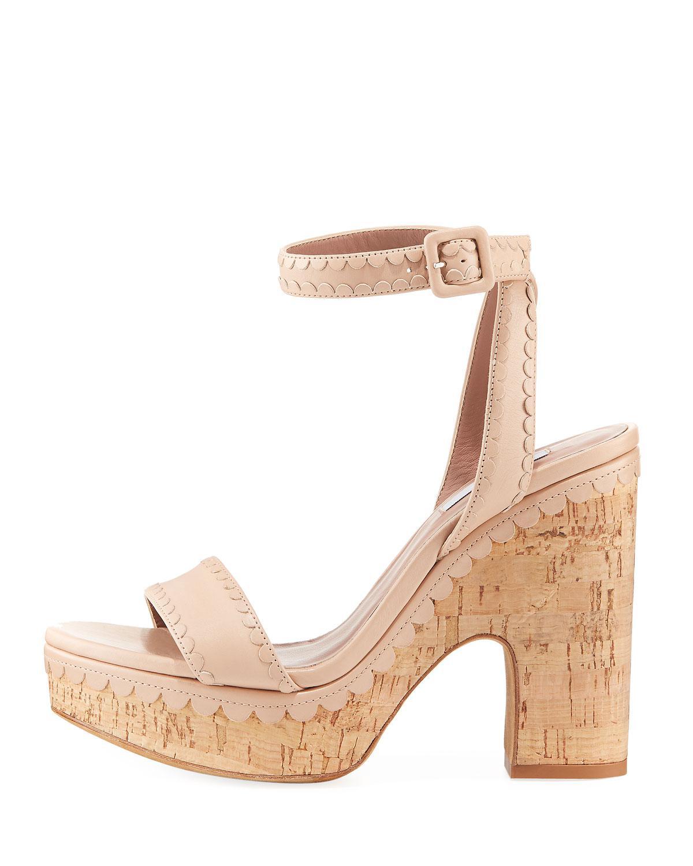 f9e1395f94b9 Lyst - Tabitha Simmons Calla Cork Platform Sandal in Natural