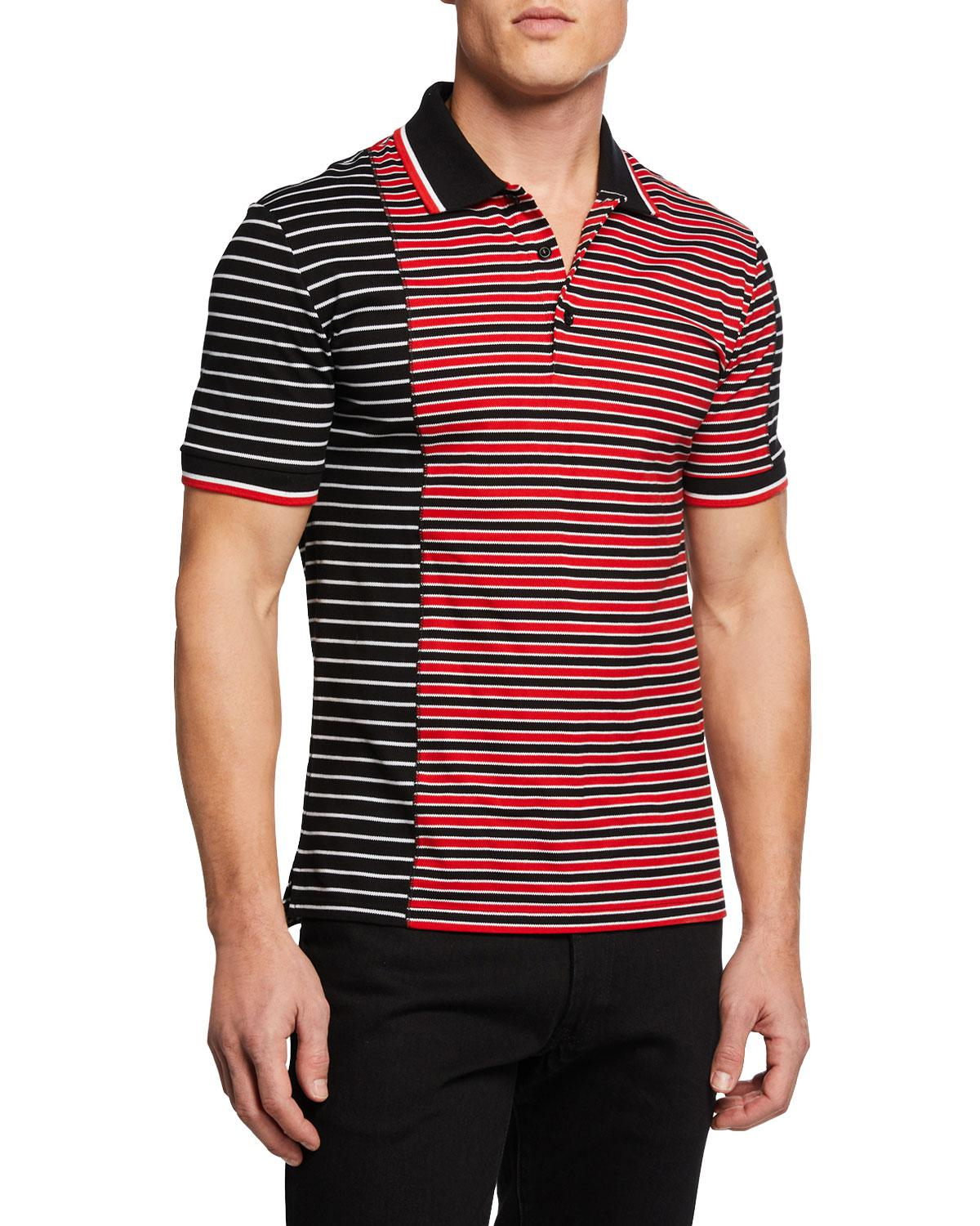 e2c880c6c Givenchy Men s Asymmetrical-stripes Slim-fit Polo Shirt in Red for ...