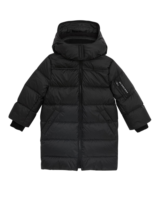 fa961e7e1d6 Burberry - Black Birton Quilted Long Coat - Lyst. View fullscreen
