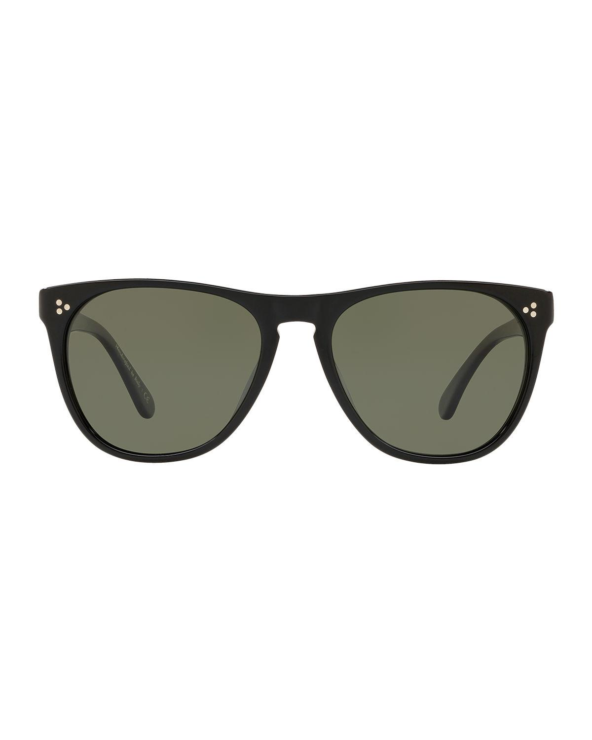 220447fa0c Lyst - Oliver Peoples Daddy B Square Acetate Sunglasses in Black