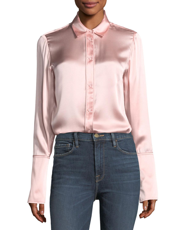 Gingham cotton blouse Frame Denim Cheap Sale Footlocker Pictures hhdVrY