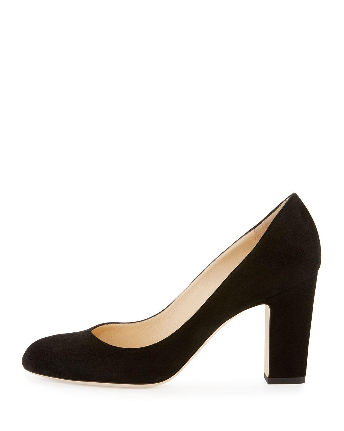 1b73cbd42613 Lyst - Jimmy Choo Billie Suede Block-heel Pump in Black