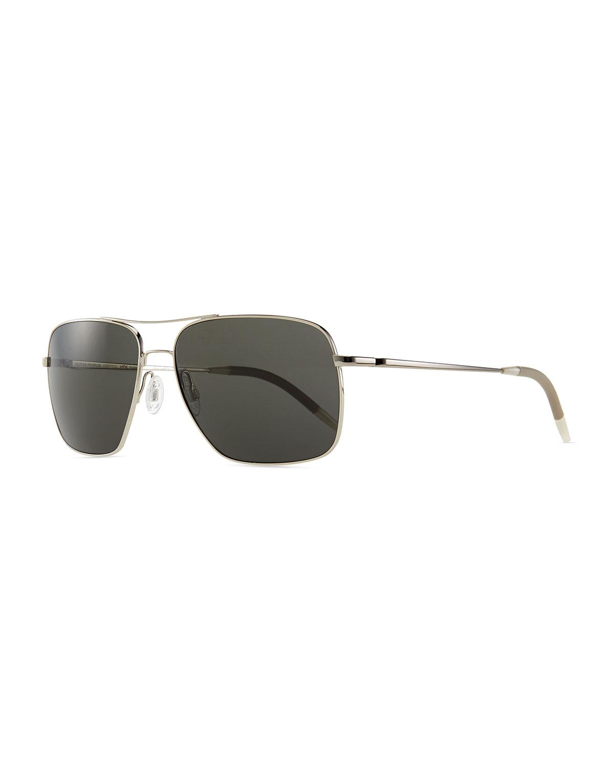 9a7a9567b17 Lyst - Oliver Peoples Clifton Polarized Sunglasses in Metallic for ...