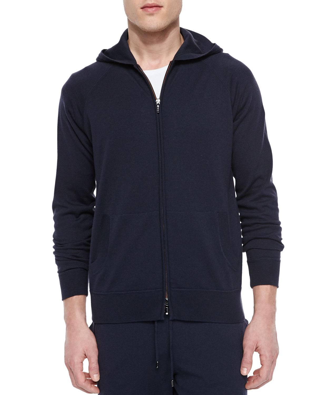 9b4257be4 Lyst - Loro Piana Portland Cashmere-silk Hoodie in Blue for Men