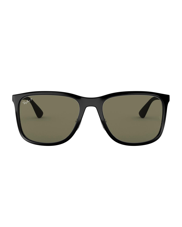 5cc5640c52 Lyst - Ray-Ban Men s Square Polarized Propionate Sunglasses in Black for Men