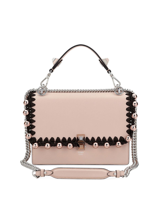 3e38110faaaa Fendi Kan I Medium Liberty Calf Shoulder Bag in Pink - Lyst