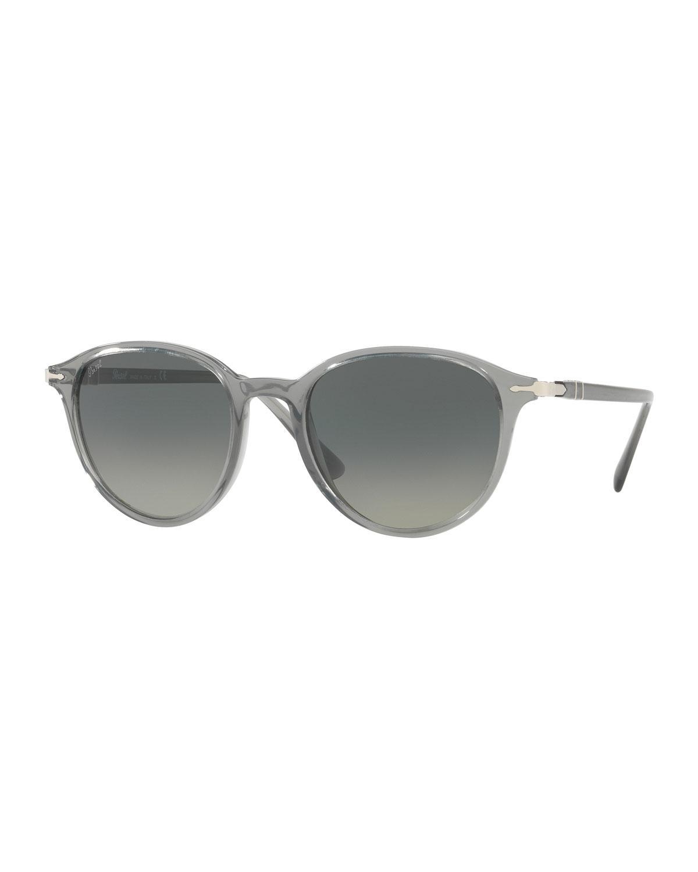 4ff34672022 Persol Po3169 Gradient Round Sunglasses in Gray - Lyst