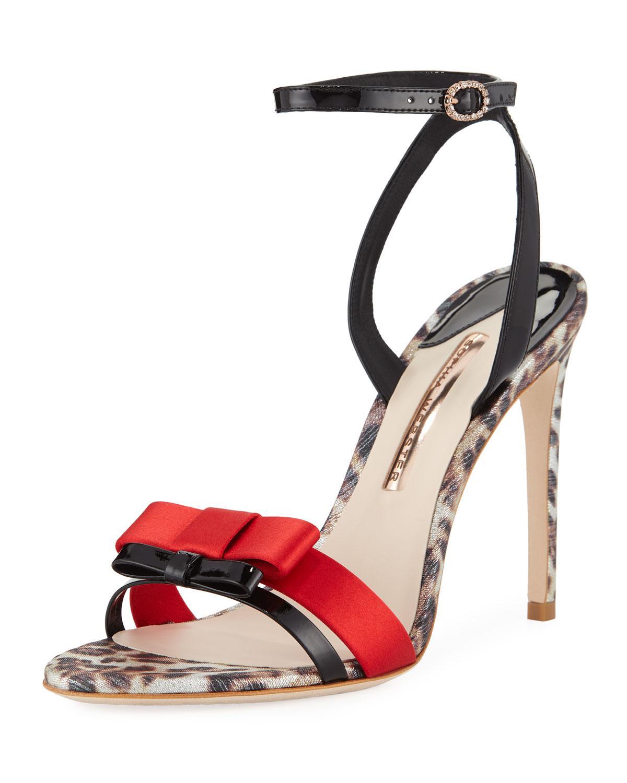 23b61b379a1 Lyst - Sophia Webster Andie Leopard Print Leather Sandals in Black