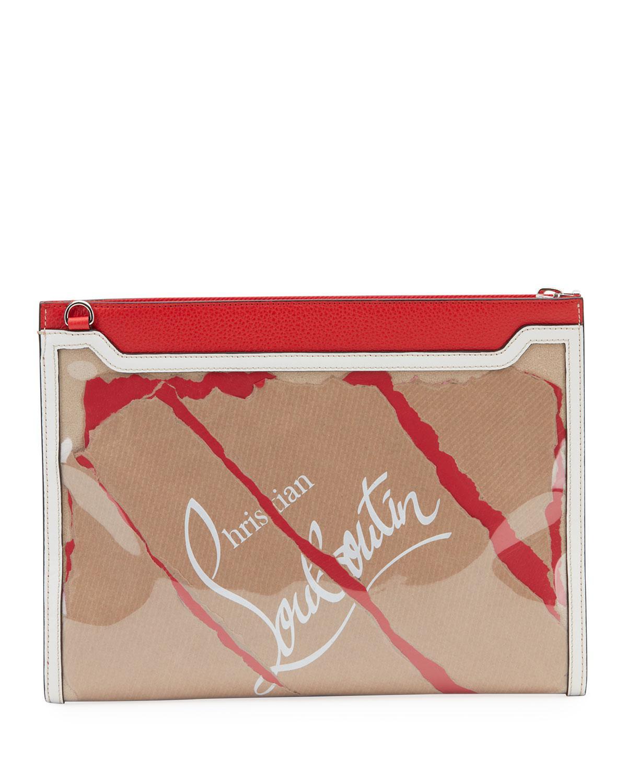 23d0501a8e21 Christian Louboutin Men s Skypouch Kraft Shoulder Bag in Red - Lyst