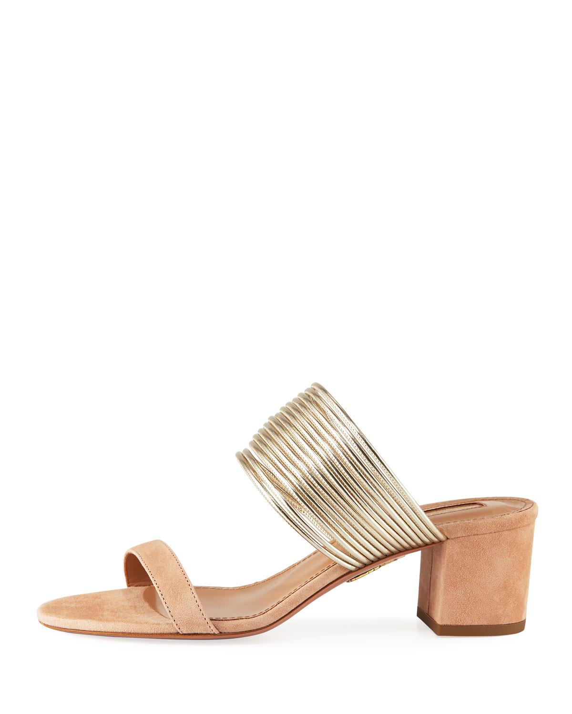 80cb087c668 Lyst - Aquazzura Rendez Vous Slide Sandals