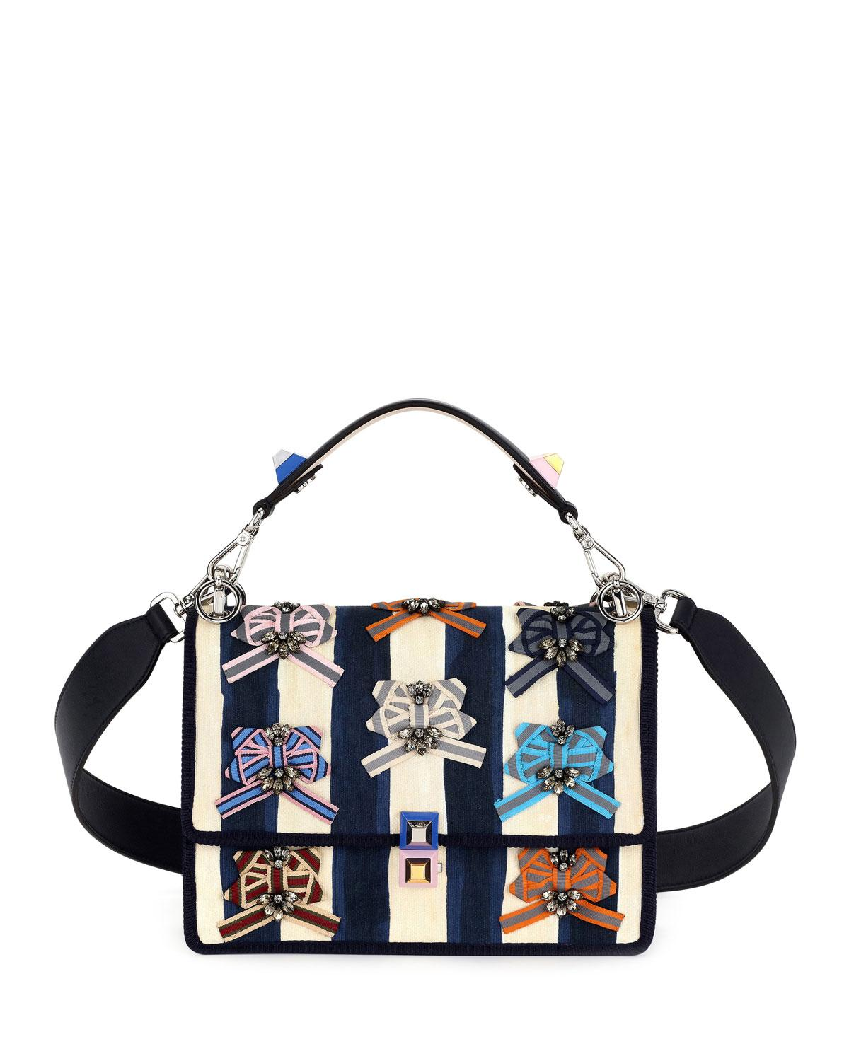 5cffa188a8be Lyst - Fendi Kan I Pequin Watercolor Shoulder Bag in Blue