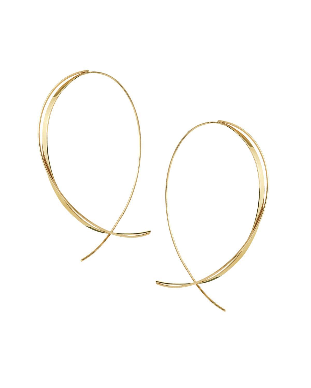 Lana Jewelry Large Flawless Vol. 6 Diamond Upside Down Earrings in 14K Gold GBPU3