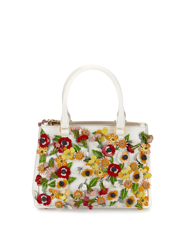 2da8eb7a38f5 Prada Saffiano Garden Small Double-zip Galleria Tote Bag - Lyst