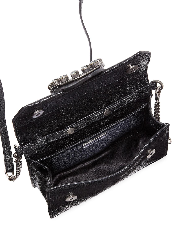 Lyst - Miu Miu Madras Jewels Leather Buckle Clutch Bag in Black f33e90298623f