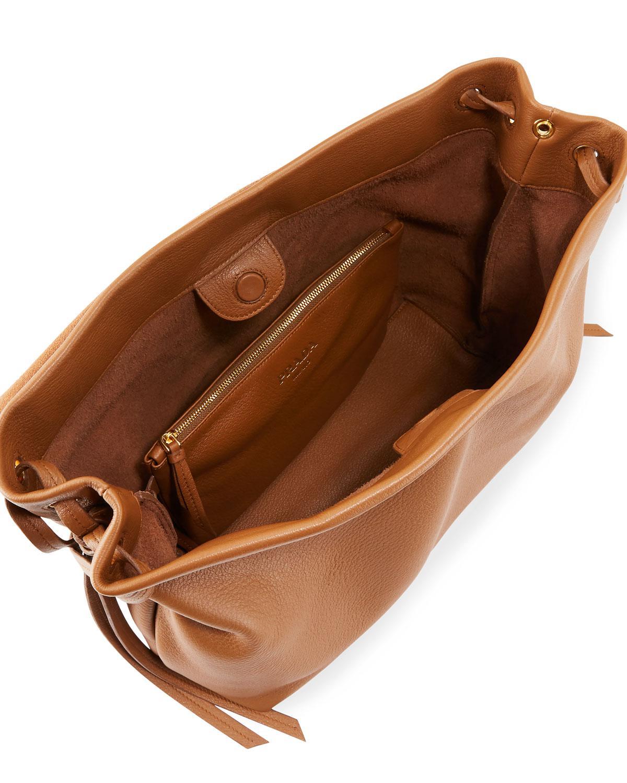 3fbe6ca0e6a9 ... best price lyst prada cervo medium shoulder bag in black 90652 034e6