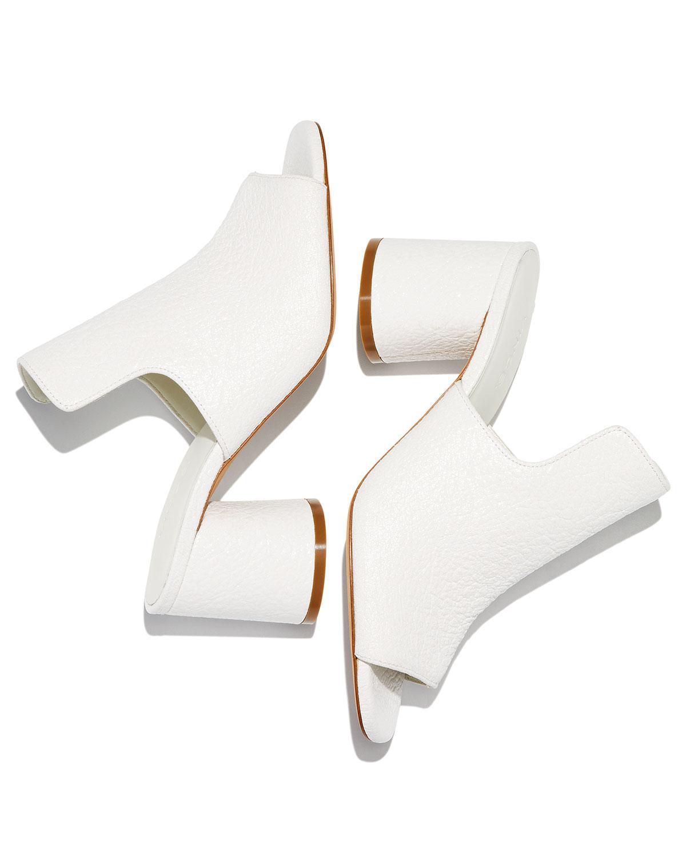 57c826f9cd9 Lyst - Vince Tanay Crinkled Patent Slide Sandal in White