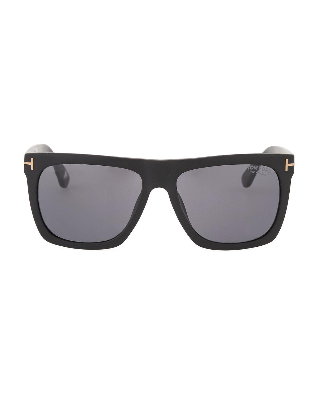 c8dcf6e91cc Lyst - Tom Ford Men s Morgan Acetate Square Sunglasses in Black for Men