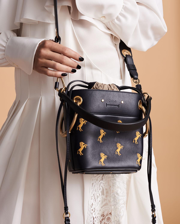 6ddffb4483 Lyst - Chloé Roy Mini Horses Bucket Bag in Blue - Save 13%