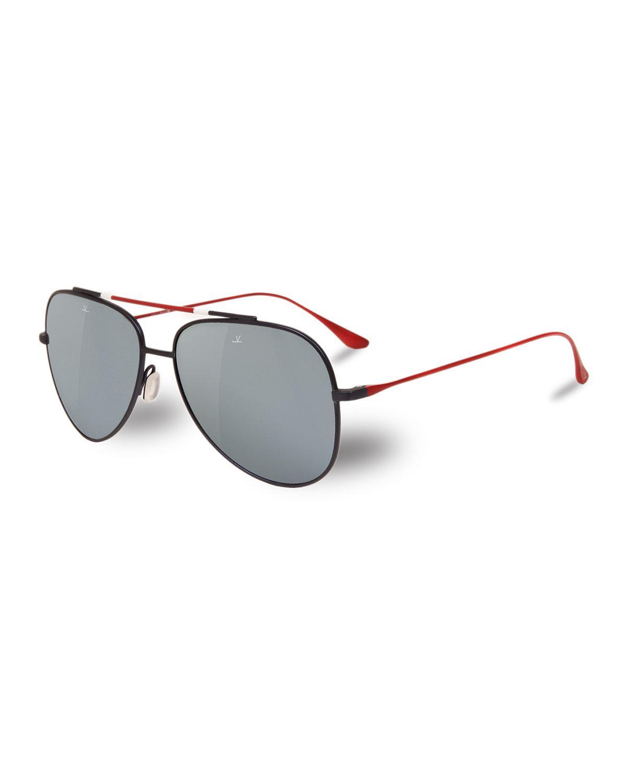 225769602839d Vuarnet - Brown Men s Titanium Aviator Sunglasses for Men - Lyst. View  fullscreen
