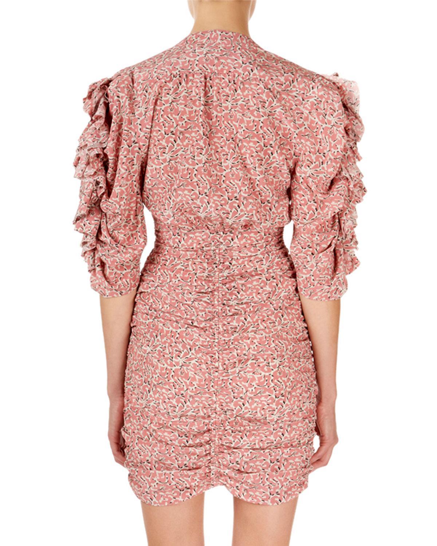 2b980fa9fe7 Isabel Marant Andor Stretch Silk Minidress in Pink - Lyst