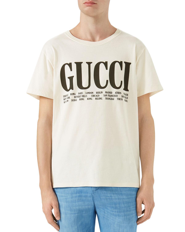 493ee4c00 Gucci Big Vintage Logo T-shirt for Men - Lyst