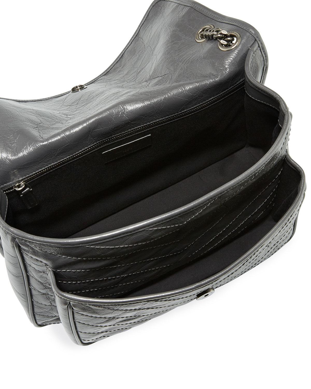 ddb19eba4be2 Lyst - Saint Laurent Niki Monogram Ysl Large Flap Shoulder Bag in Black