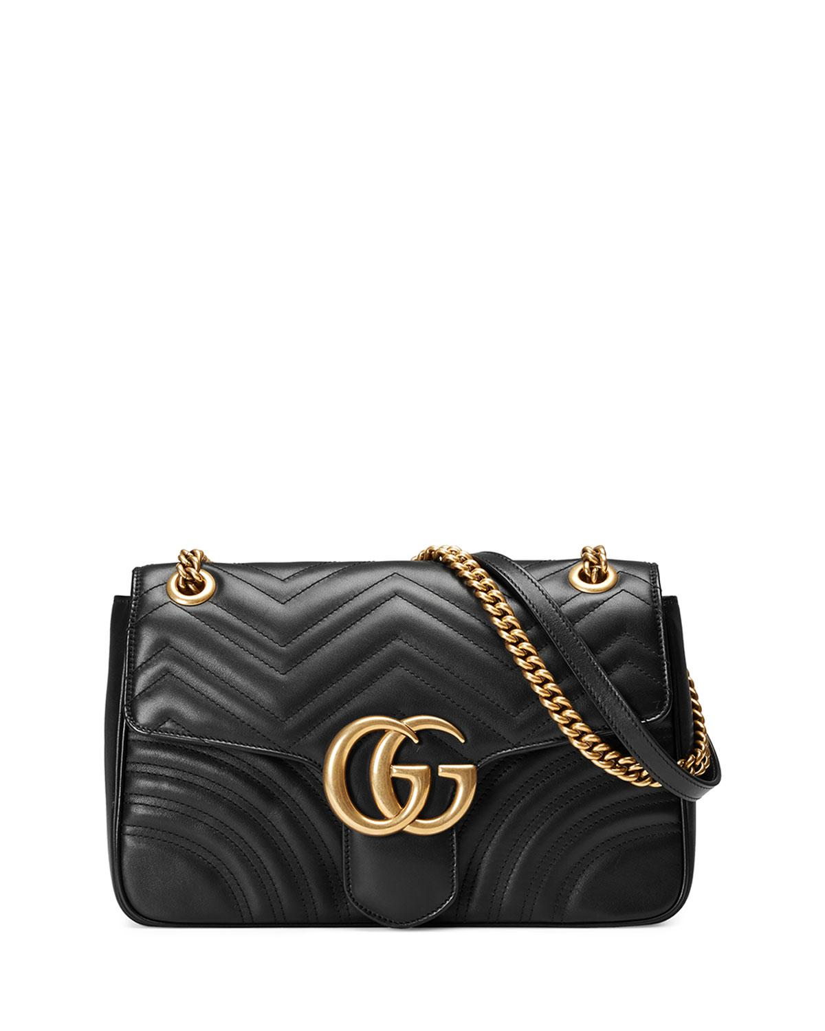 413d7cc39a7e Gucci GG Marmont Medium Matelassé Shoulder Bag in Black - Save 45 ...