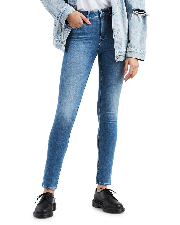 bc95b19cbb2 Lyst - Levi's Premium 721 High-rise Skinny Jeans in Blue