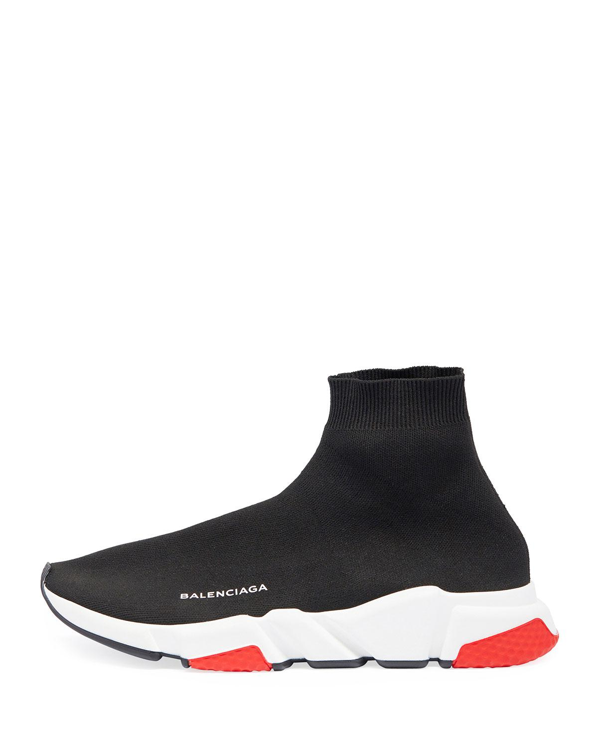113ef25693f4 Lyst - Balenciaga Men s Speed Mid-top Trainer Sock Sneakers in Black for Men  - Save 4%
