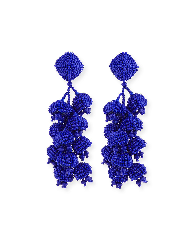 Sachin & Babi Grape Beaded Hoop Earrings W9Mb9Ah