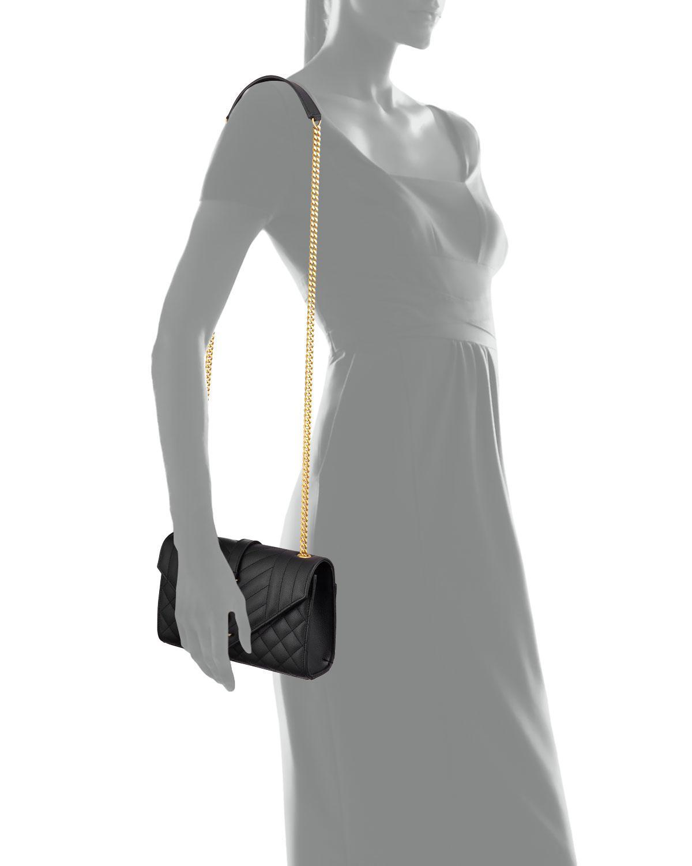 Saint Laurent - Black Monogram Ysl Envelope Small Chain Shoulder Bag -  Golden Hardware - Lyst. View fullscreen c159a91d6ff28