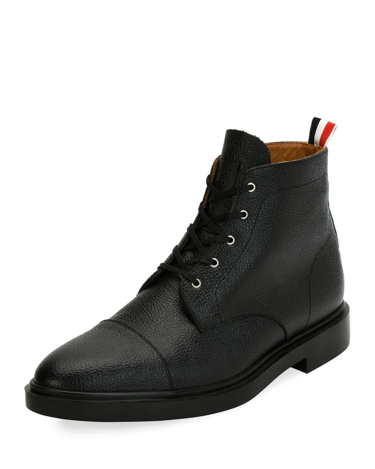 Black Cropped Blucher Lace-Up Boots Thom Browne Footlocker Finishline Cheap Online Clearance Manchester Great Sale Clearance Online Fake Big Sale Cheap Online Sast For Sale OQEq0Hv