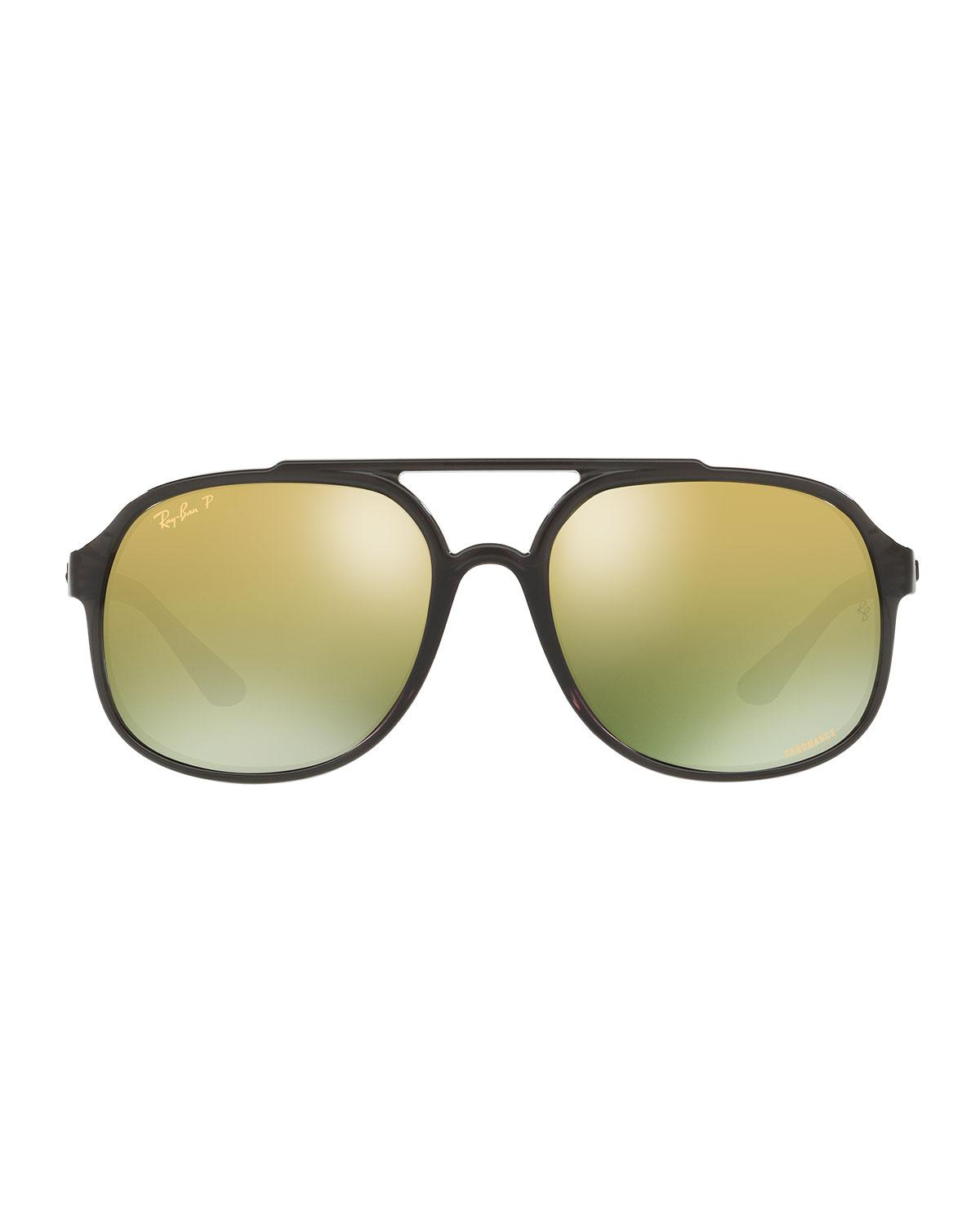 ca33826b460 Lyst - Ray-Ban Men s Square Chromance Propionate Sunglasses in Green for Men