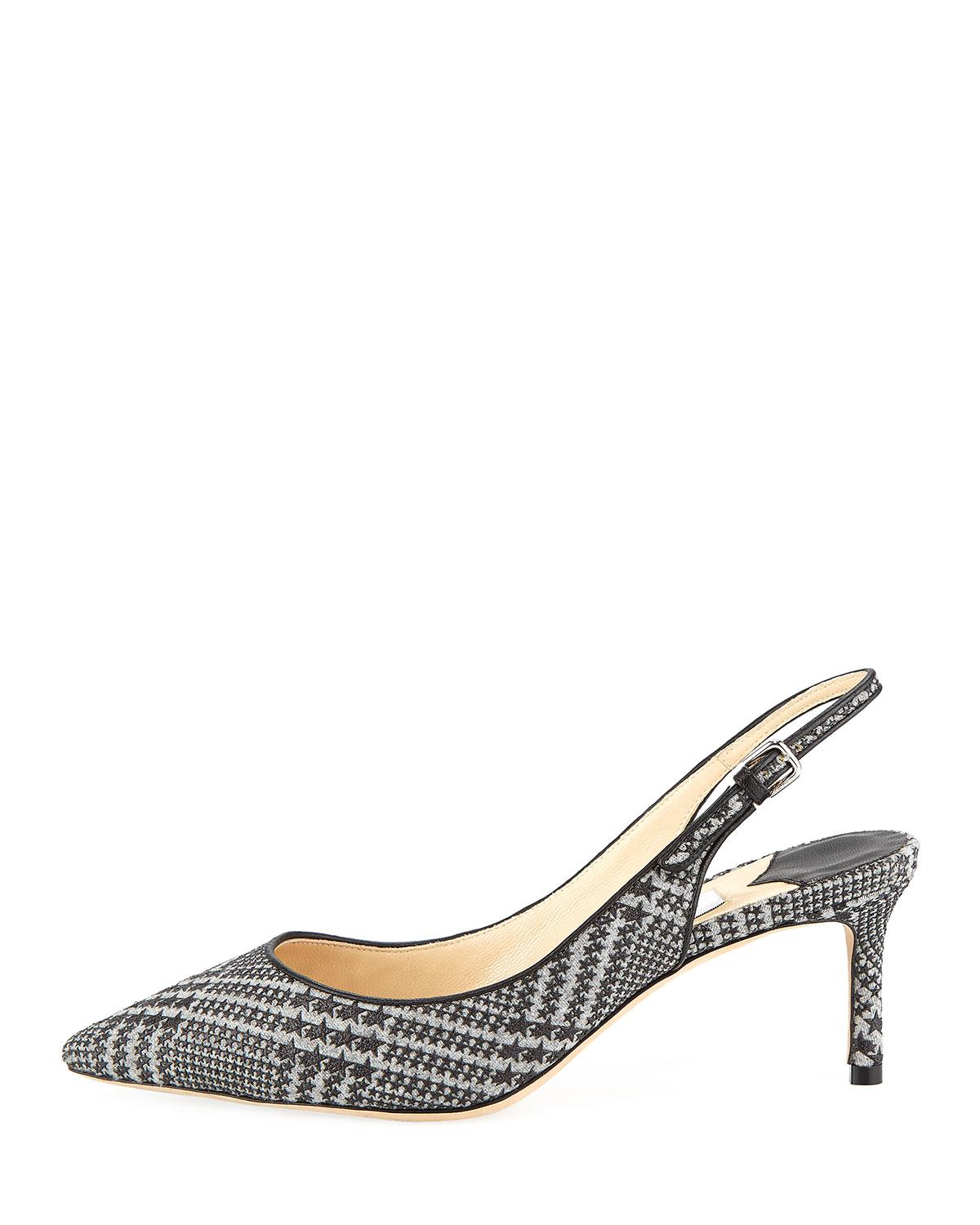 131629a9c2 Lyst - Jimmy Choo Erin 60mm Prince Of Stars Flannel Slingback Pumps in Black