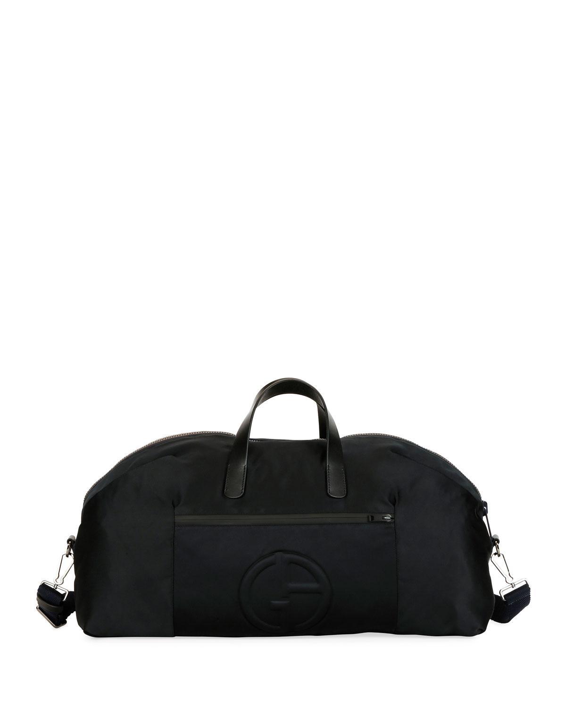0fe9e8582d72 Giorgio Armani Men s Nylon Carryall Duffel Bag in Black for Men - Lyst