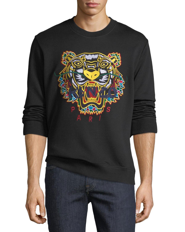 8e4c0f87795 Lyst - KENZO Men s Embroidered Dragon Tiger Sweatshirt in Black for Men
