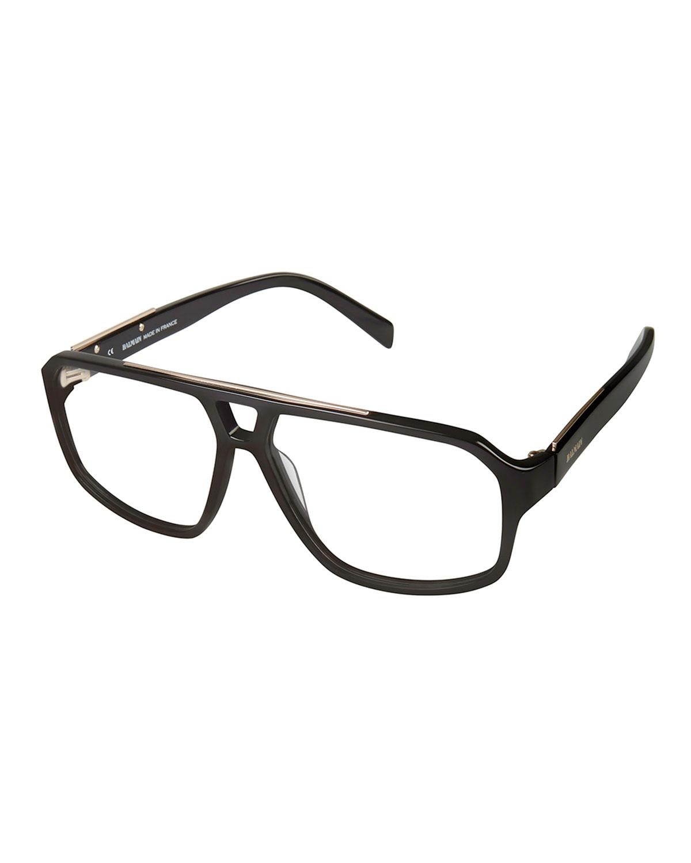 5bfdaa8cf Balmain Plastic Aviator Optical Frames in Black for Men - Lyst