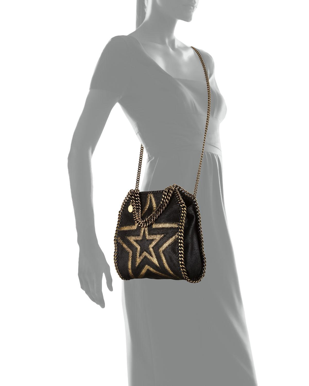 808dec1760 Lyst - Stella McCartney Shaggy Gradient Star Mini Falabella Tote Bag ...